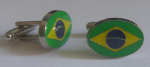 Brazil Country Flag Cufflinks